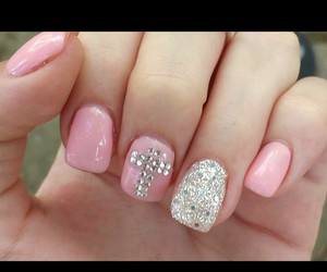 cross, nails, and pink image