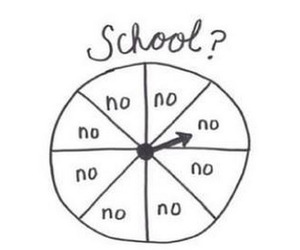 school, no, and hate image