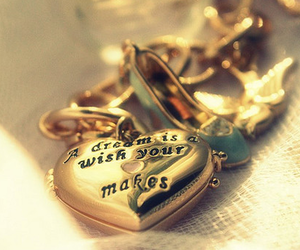 Dream, heart, and gold image