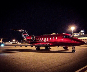 airplane, red, and jetlife image