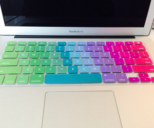 apple, pink, and keyboard image