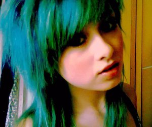 girl, green hair, and turquoise hair image