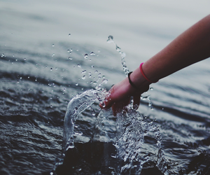 water, hand, and photography image
