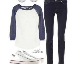 outfit, casual, and converse image