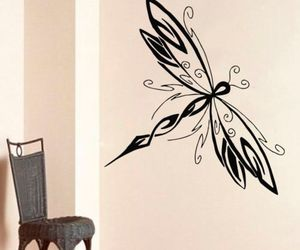 dragonfly, home decor, and murals image