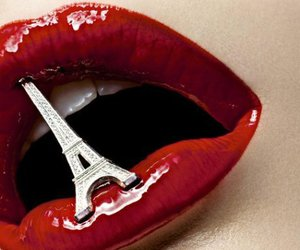 lips, paris, and red image