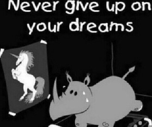 Dream, unicorn, and never image