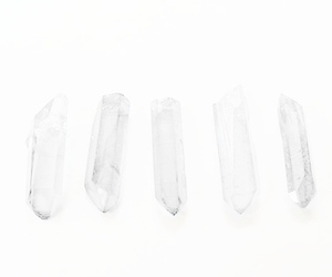 crystals, minimalist, and white image
