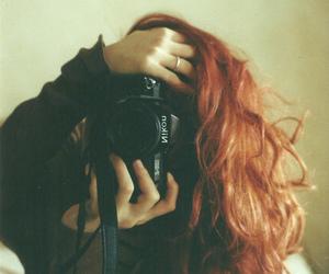 girl, camera, and hair image