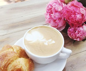 coffee, flowers, and breakfast image