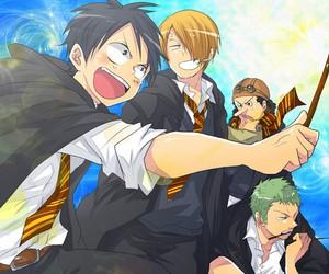 sanji, anime, and harry potter image