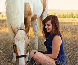 girl, horse, and sweet image