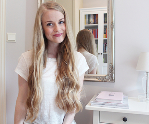 bedroom, blogger, and blonde image