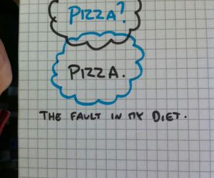 pizza, diet, and food image