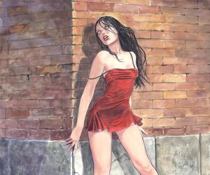 art, girl, and milo manara image