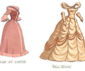 beauty and the beast, belle, and concept art image