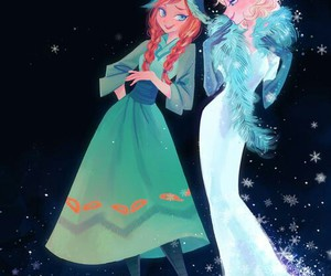 frozen, elsa, and elsanna image