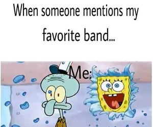 band, funny, and spongebob image