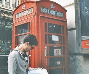 boy, london, and telephone image