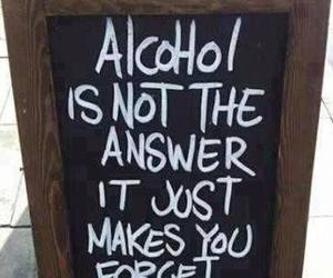alcohol and forget image