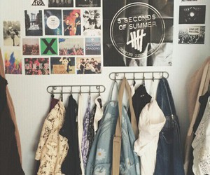 art, bands, and bedroom image