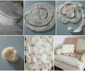 diy, pillow, and rose image