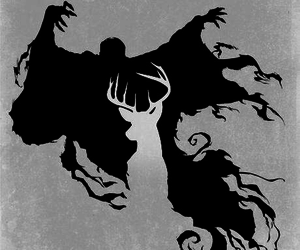 harry potter, patronus, and dementor image