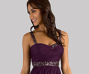 dress, homecoming, and purple image