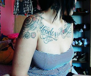 stripes and tattoo image