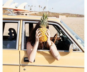 pineapple, car, and yellow image