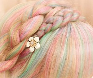 pastel, hair, and style image