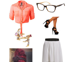 black heels, clothes, and glass image