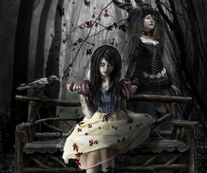 art, black, and fairytale image