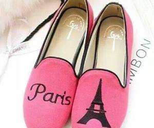 paris, pink, and shoes image