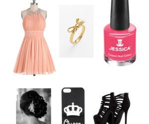 black heels, ring, and dress image