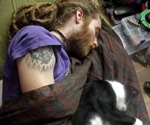 dreads and cat image