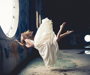 girl, photography, and fly image