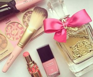 pink, makeup, and perfume image