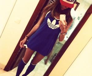 girl, adidas, and swag image