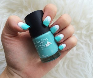 girl, nail art, and nail polish image