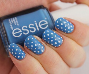 nails, nail art, and blue image