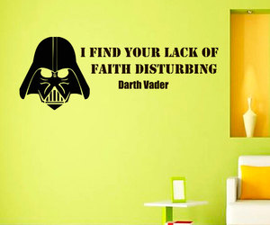 darth vader, decals, and quotes image