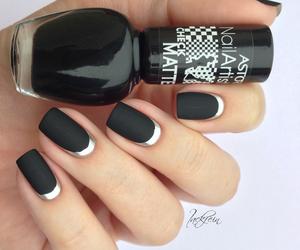 black, girl, and nail polish image