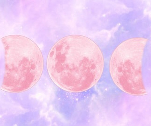 moon, pink, and purple image
