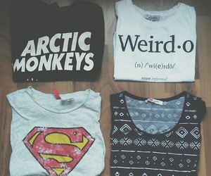 superman, arctic monkeys, and t-shirt image