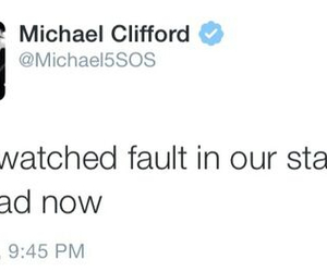 5 seconds of summer, the fault in our stars, and michael clifford image