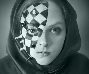 chess, face paint, and girl image