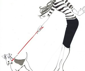 fashion, dog, and drawing image