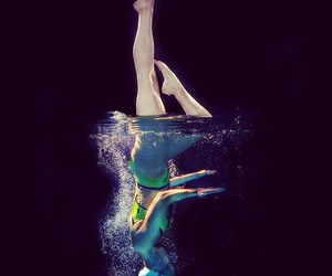 synchro, sport, and nuoto image