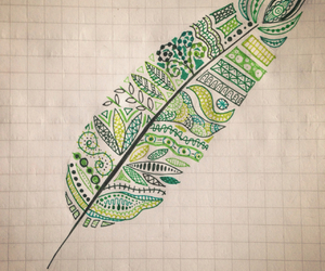 drawing, green, and nature image